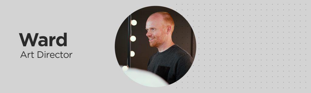 Ward, art director, a fan of Studio Dumbar and their avocado approach